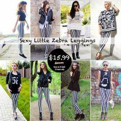 il blog di una mamma casalinga: Sexy Little Zebra Leggings su Romwe