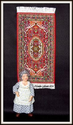 New petit point miniature carpet VERA Rugs On Carpet, Carpets, Little People, Hand Stitching, Needlepoint, Dollhouse Miniatures, Needlework, Scale, Pattern
