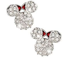 Disney Minnie Mouse Icon Earrings by Arribas - Domed | Disney StoreMinnie Mouse Icon Earrings by Arribas - Domed - Minnie's iconic likeness is formed in a raised dome profile encrusted with sparkling Swarovski crystals and accented with her famous red bow. Enjoy a glamorous reminder of your trip to the Park when you wear these pav� earrings.