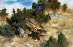 Eagle and Hare, 1924, oil on canvas Bruno liljefors