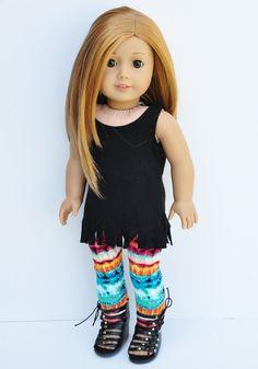 American Girl Clothes Black Fringe Tank by LoriLizGirlsandDolls, $24.00