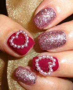 valentine nail decals