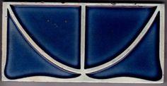 Jugendstil Fliese Kachel Art Nouveau Tile VILLEROY & BOCH  METTLACH 2