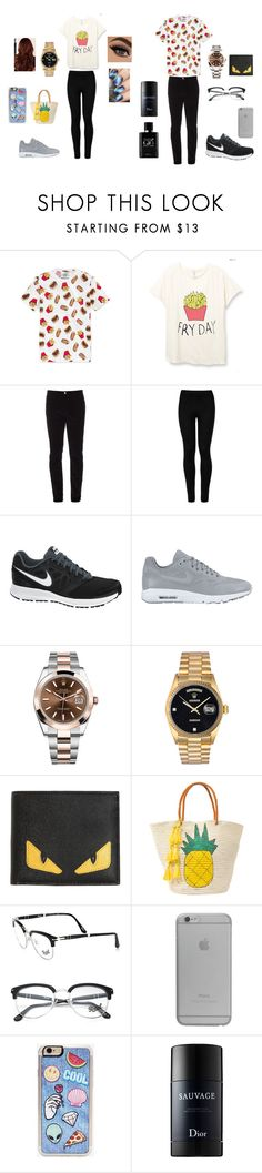 """""""A Couple Going Out"""" by jasmin198 ❤ liked on Polyvore featuring American Rag Cie, Gucci, Wolford, NIKE, Rolex, Fendi, Sensi Studio, Persol, Native Union and Zero Gravity"""