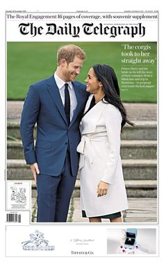 Gert's Royals (@Gertsroyals) on Twitter: Prince Harry and Meghan Markle on the cover of The Daily Telegraph, November 28, 2017
