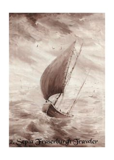 Fine Art Print Cards Seascapes by Nibz Set 2 by CraftyJoes on Etsy