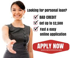 Personal Loans for Bad Credit. Get up to $2,500. Fast and easy application.