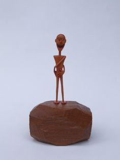 """O contorcionista"" micro escultura 15x9xx9cm"