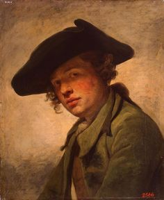 Jean-Baptiste Greuze - Portrait of a young man in a hat (1750s).jpg