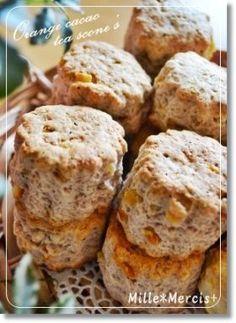 「【バレンタイン】オレンジティースコーン」ひとみっち   お菓子・パンのレシピや作り方【corecle*コレクル】