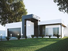 Single Family Homes project in MOOLOOLABA, AU designed by Anonymous - Modern Australian house facade Small Modern House Exterior, Modern House Facades, Small Modern Home, Dream House Exterior, Modern Architecture House, Modern House Plans, Modern Home Exteriors, Chinese Architecture, Futuristic Architecture