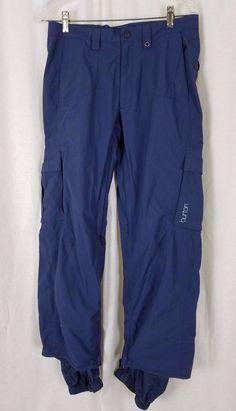 Burton Cargo Ski Snowboard Winter Pants Womens S Blue Mesh Lined Insulated #Burton