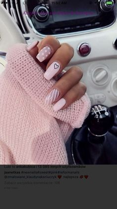 Easy DIY Valentines Nail Designs for Short Nails – Seze Simple Acrylic Nails, Best Acrylic Nails, Acrylic Nail Art, Simple Nails, Matte Nails, Baby Pink Nails Acrylic, Pink Tip Nails, Clear Acrylic, Stars Nails