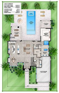 New Modern House Floor Plans. 21 New Modern House Floor Plans. Modern House Floor Plans, Villa Plan, Outdoor Living Rooms, House Blueprints, Planer, Architecture Design, Exterior, How To Plan, Master Suite