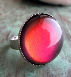 Ruby Fire Ring in Silver by AshleySpatula on Etsy, $14.00