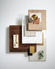 We create and photograph one of these material boards for each of our development projects. So much more interesting than a written specification! ✌️|| Styling by…