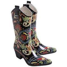 $45 - I had to pin this Paisley Cowboy Rain Boots for @Karen Beaudin!!