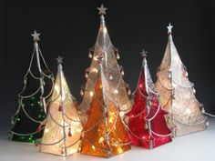 Stained glass patterns 3d christmas trees | ... Caldwell of Sunflower Glass Studio - Stained glass Chritsmas trees