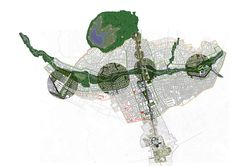 Image 6 of 10 from gallery of Finalists for the Masterplan of Tirana, Albania / Grimshaw Architects. Courtesy of Grimshaw Architects Landscaping Around Deck, Plan Maestro, Lace Drawing, Urban Concept, Tirana Albania, Landscape Design Plans, Concept Diagram, Master Plan, Urban Planning