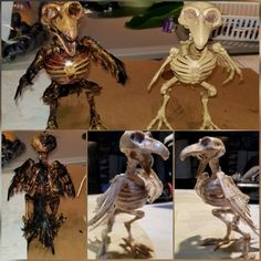 I turned this Halloween dollar store skeleton Crow into a creepy corpse! Creepy Halloween Decorations, Spooky Scary, Halloween Home Decor, Halloween Skeletons, Outdoor Halloween, Halloween Crafts, Halloween Garage, Halloween House, Halloween 2019