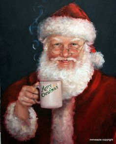 can't decide..does this belong in Holidays or my coffee board??  lol  what could be better? santa drinks coffee! yay!