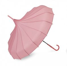 Pagoda Umbrella, Polka Dot Trim, Pink Panels, wind proof, Great gift  #LindyLou #Pagoda