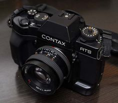 Contax RTS III with Karl Zeiss lens - a beyond amazing 35mm film camera..its the camera I have used the most.