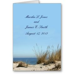 Beach Theme Wedding Invitations Cards www.zazzle.com/whitewavespaperie*/