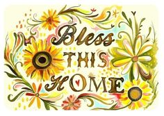 Bless This Home horizontal print by thewheatfield on Etsy
