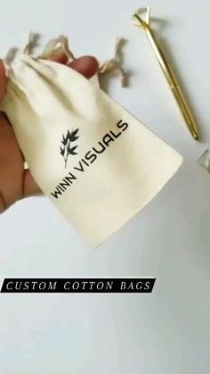 Ecofriendly and reusable cotton bags. Personalize with your logo for your event, or brand packaging. Cotton Logo Custom Print 6pcs Gift Fabric Favour Bag, Drawstring Pouch, Eco-friendly Bag, Cosmetic Bag, Jewelry Packaging, Sunglasses, Storage, Travel Pouch
