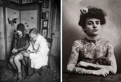 femme tatouées des années 1920 Maud Stevens Wagner (image a droite)
