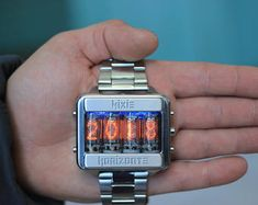 NixieHorizonte by NixieHorizonte on Etsy Best Watches For Men, Cool Watches, Casual Watches, Patek Philippe, Nixie Tube Watch, Vintage Toys 1970s, Rgb Led, Adventure Gear, Technology Design