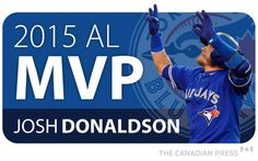 Toronto Blue Jays third baseman Josh Donaldson and Washington Nationals outfielder Bryce Harper have been voted the most valuable players in the American and National leagues, respectively, in Blue Jay Way, Go Blue, Better Baseball, Sports Baseball, Baseball Toronto, Josh Donaldson, American League, Toronto Blue Jays, Sports Games