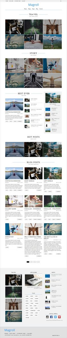 Magroll is a light, clean and modern 6 in 1 #WordPress theme for #News or Personal #Blog minimal and professional looking website download now➩ https://themeforest.net/item/magroll-responsive-wordpress-magazineblog-theme/16892178?ref=Datasata