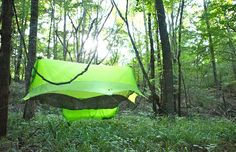 is raising funds for Nubé the Perfected Hammock Shelter by Sierra Madre Research on Kickstarter! The most complete hammock shelter ever imagined, its elevated patent pending design is engineered to protect you AND your gear! Hiking Hammock, Hammock Tent, Hammocks, Outdoor Camping, Outdoor Gear, Family Shelters, Walking Poles, Living Off The Land, Cold Night