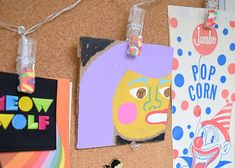 Jennifer Perkins art and DIY tie-dye polymer clay embellished clip arts.