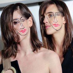 Au défilé Jacquemus, les visages se sont dédoublés - #BackstageBeauté : les plus beaux Instagram de la Fashion Week - Elle