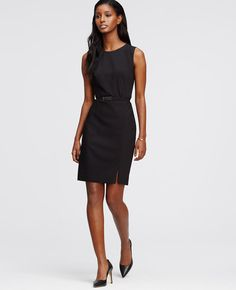 Tropical Wool Belted Sheath Dress | Ann Taylor