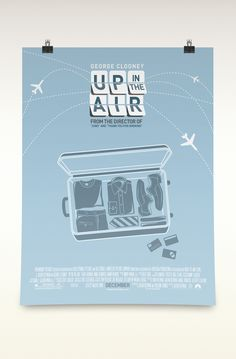Up in the Air Rebrand: Poster, Motion Title, and DVD by David Illig, via Behance