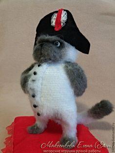 Купить Бонапарт - белый, кот, Наполеон, бонапарт, котенок, белый кот, кошка, вязаный кот
