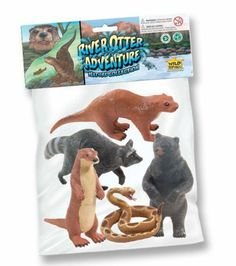 """Wild Republic Polybag River Otter by Wild Republic. $11.40. All pieces are phthalate-free. Light weight durable plastic. Highly detailed. From the Manufacturer                Explore the life of River Otter with our 5 piece Otter Adventure Collection. This collection includes 2 River Otters, a Raccoon, a Black Bear, and a Garter Snake . Each piece is durable, light weight and made from phthalate free plastics. Our high quality replicas range in size from 4-7"""".     ..."""