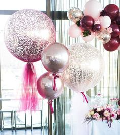 "1,371 curtidas, 9 comentários - Boutique Balloons Melbourne (@boutiqueballoonsmelbourne) no Instagram: ""can't get enough of a gorgoues signature giant confetti and tulle balloons #tulleballoons…"""