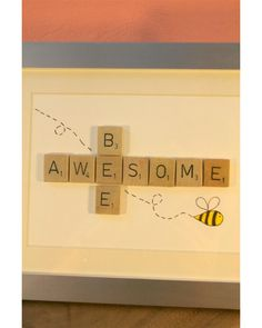 Scrabble Art- Except with yourself instead of awesome