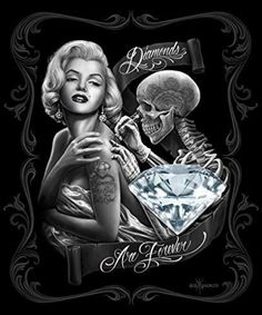 [ Dga Marilyn Monroe Chicano Stretched Canvas Wall Art ] - Best Free Home Design Idea & Inspiration Marilyn Monroe Diamonds, Marilyn Monroe Wallpaper, Marilyn Monroe Tattoo, Aztecas Art, David Gonzalez, Lowrider Art, Tatoo Art, Doodle Tattoo, Card Tattoo