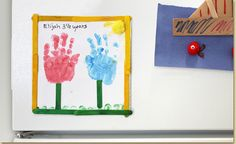 Even young kids can show their love for Mom with Horizon's adorable tulip handprint frame and supplies from #Walmart.