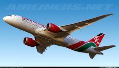 Kenya Airways Boeing 787-8 Dreamliner 5Y-KZH (cn 36045/307) Off to Nairobi as KQ211 in lovely winter evening!