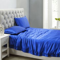 Silk duvet cover in Grade A mulberry silk makes sleeping an extremely enjoyable and healthy thing