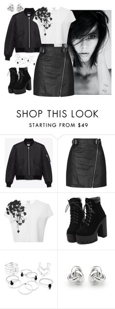 """""""DBS #339"""" by dbscloset ❤ liked on Polyvore featuring Yves Saint Laurent, Topshop, Carolina Herrera and Georgini"""