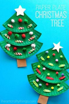 Fun paper plate Christmas tree crafts for kids, preschool Christmas crafts . - Fun paper plate Christmas tree crafts for kids, preschool Christmas crafts, Chris …, - Kids Crafts, Christmas Art Projects, Christmas Arts And Crafts, Christmas Crafts For Toddlers, Christmas Tree Crafts, Toddler Crafts, Preschool Crafts, Holiday Crafts, Craft Projects