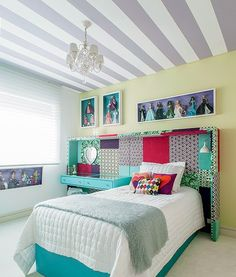 Use the ceiling as a accent wall or somethin.